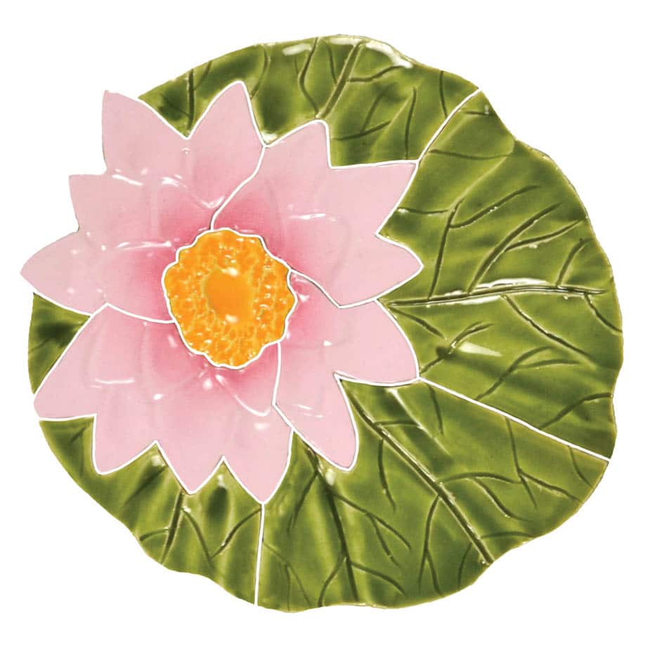 Shop now lily pad with flower tile artistry in mosaics creative tile lily pad with flower izmirmasajfo